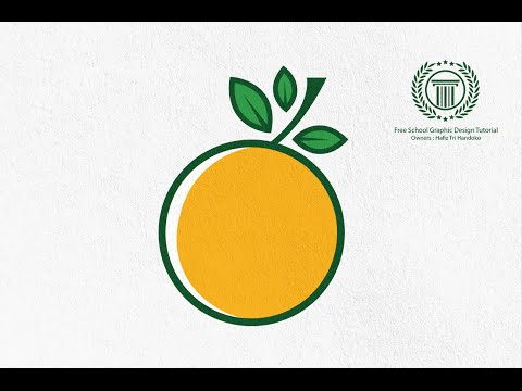logo design illustrator - adobe illustrator logo design tutorial how to create orange fruit logo