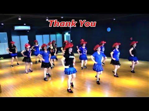Thank You|Line Dance by Tina Argyle|Demo & Walkthru|感謝|含導跳|4K