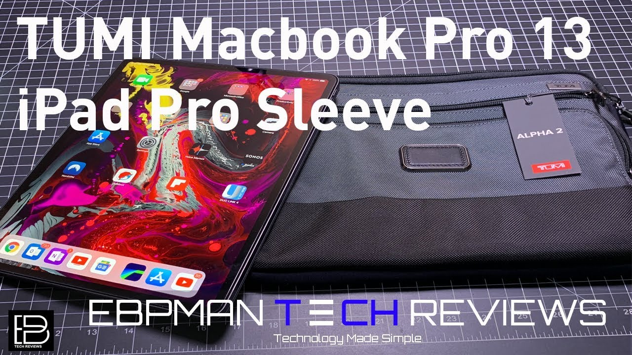 newest 69a0a 90882 New iPad Pro 2018 & Macbook Pro 13 inch Sleeve from Tumi