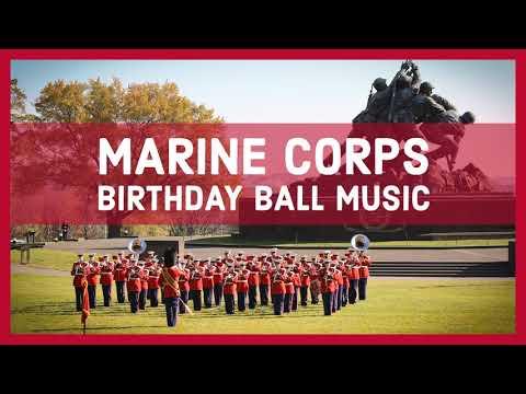USMC BIRTHDAY BALL MUSIC - Anchors Aweigh / The Marines' Hymn - U.S. Marine Band
