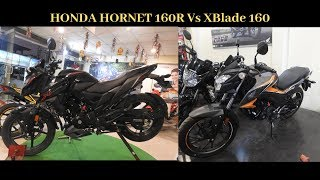 Honda Hornet 160R 2019 Vs Honda Xblade 160 2019 WalkAround Comparision