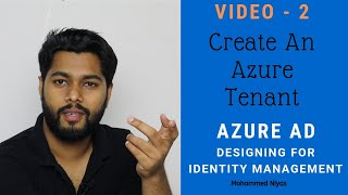 Azure AD – Create an Azure Tenant and Verify- Identity and Access management Video - 2