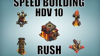 HDV 10 Base Rush Champion | Clash Of Clans Français | TH 10 Trophy Base