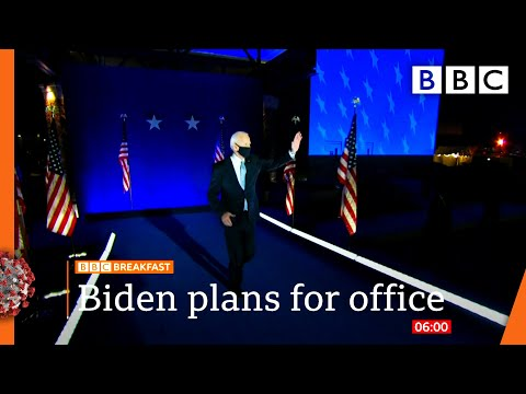 Joe Biden pushes forward with plans for office 🇺🇸 US Election @BBC News live - BBC
