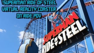 Superman - Ride of Steel Virtual Reality Coaster HD POV + VR Footage Six Flags America