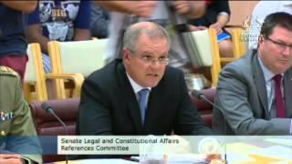 Scott Morrison pressured on secrecy of asylum-seeker documents at Senate inquiry - video