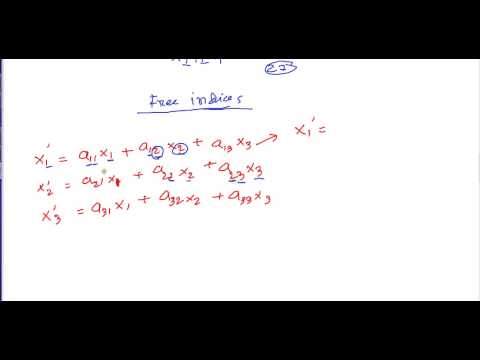 Tensor 2  | Summation convention, Daummy and free indices