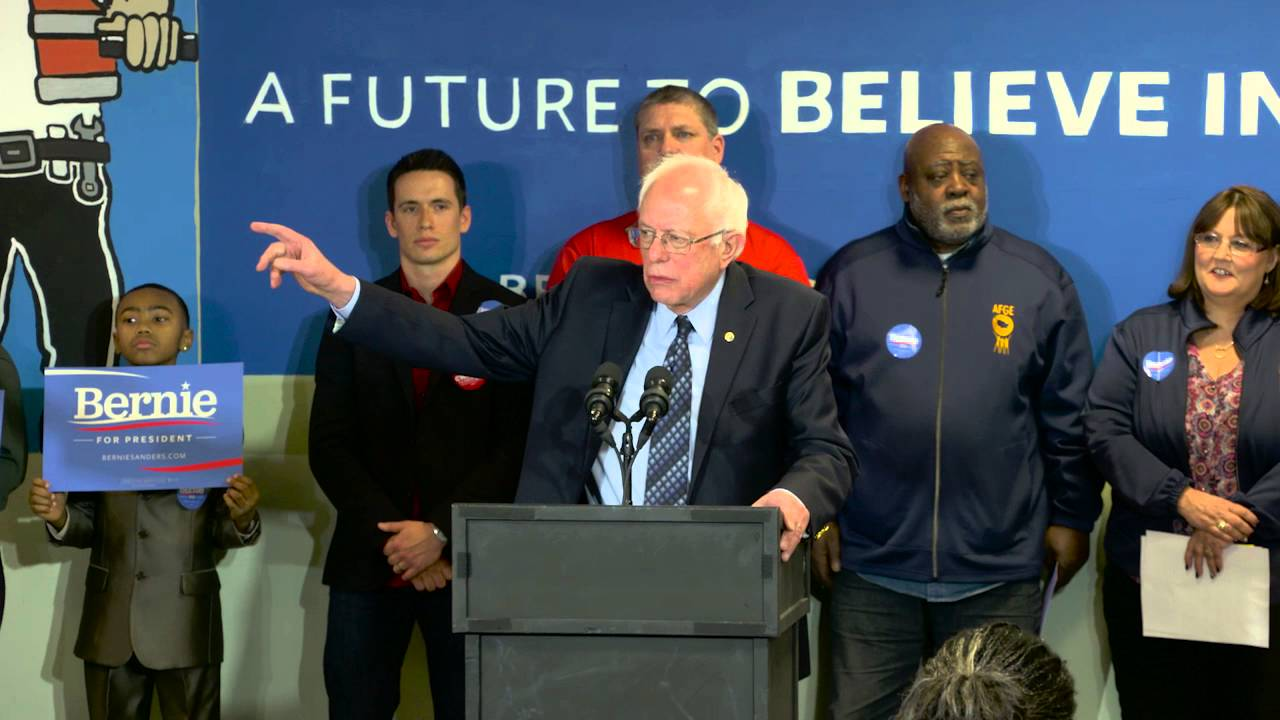 Bernie Sanders Endorsement Press Conference with AFGE Social