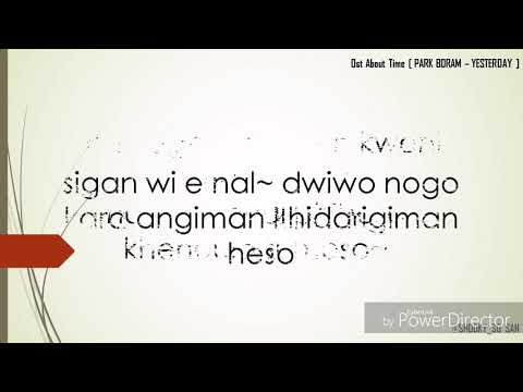 Yesterday - Park Boram [ Ost. About Time ] Easy Lyrics