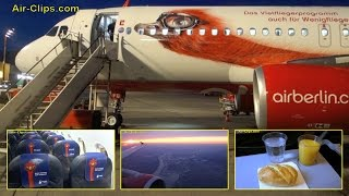 "Air Berlin Airbus A320 Special Colours ""Milo"" aircraft to Düsseldorf [AirClips full flight series]"