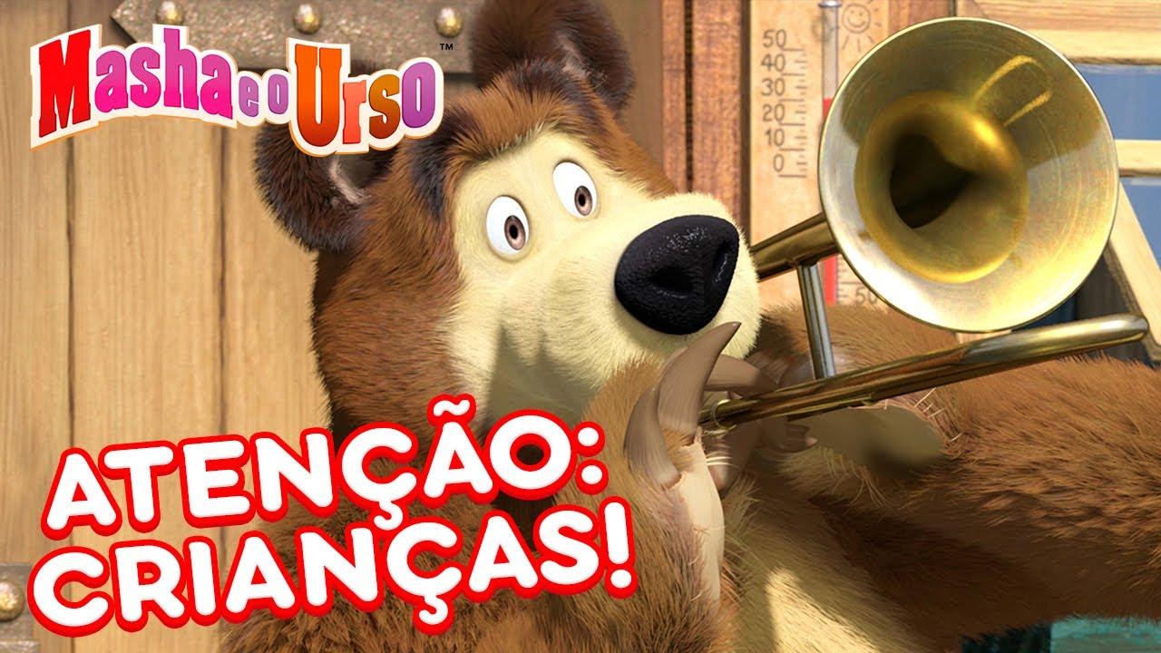 Download Masha e o Urso 👱♀️🐻 🚸 Atenção: CRIANÇAS! 🧒🚸 Coleção de desenhos animados