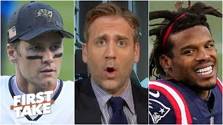 Cam Newton is a middle-of-the-pack QB 'like Tom Brady' - Max Kellerman | First Take