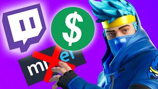 NINJA GOT PAID (9999$ MILLION) BY MIXER & IS BACK TO TWITCH - MIXER IS SHUTTING DOWN (Fortnite)