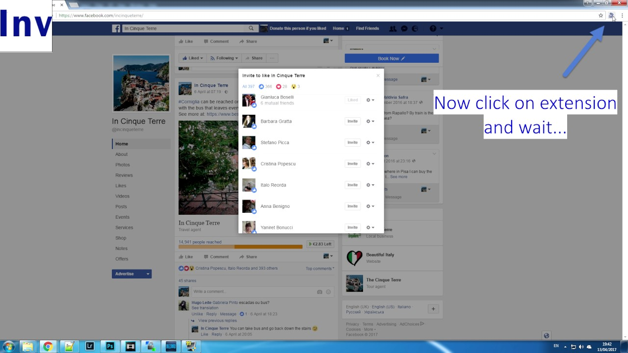 Automatically invite fans who liked your post to like also facebook page  (FREE)