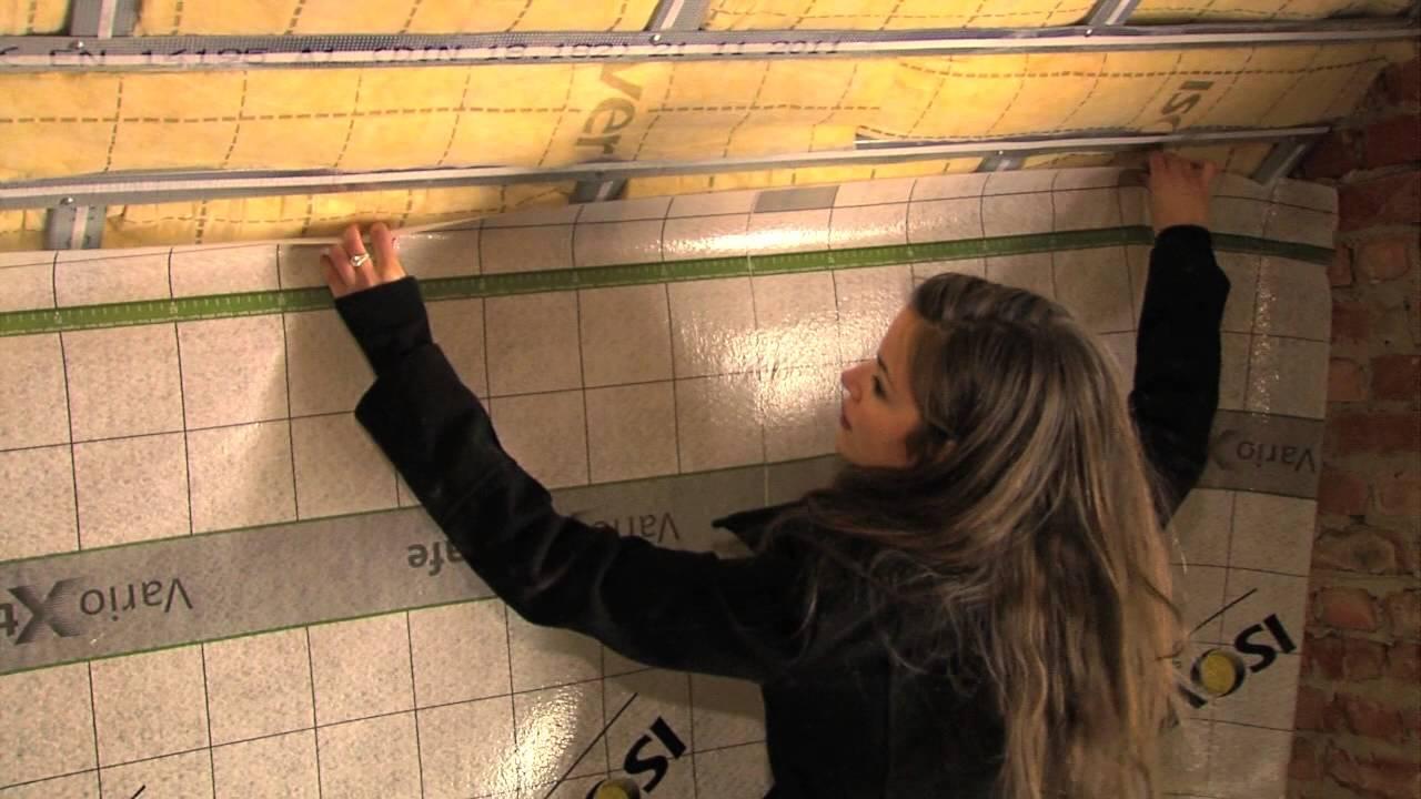 Isolation du toit de a z youtube for Laine de verre sous toiture