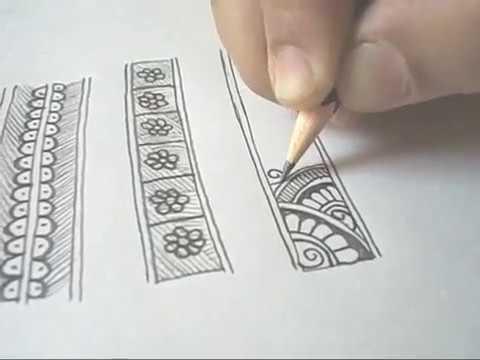 mehndi border designs | Learn Border Design | Learn Mehndi | मेहंदी सीखें | Border Designs (Part 2)