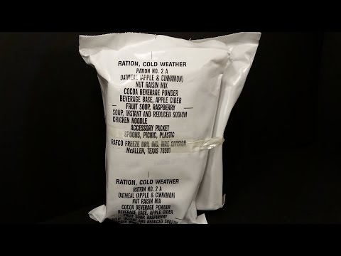1989 Ration Cold Weather 24hr MRE Review RAFCO Rarest RCW US Military Mountain Food Testing