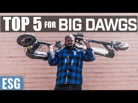 Top 5 Single Motor Scooters for Big Dawgs (Heavy Riders)