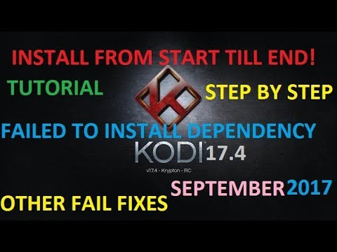 (KODI FULL INSTALL FROM SCRATCH) FIXED FAILED DEPENDENCY (TUTORIAL) Working.