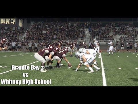 Granite Bay Grizzlies vs Whitney Wildcats, V Football