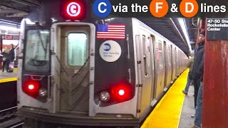 ⁴ᴷ C Train Rerouted via the F and D Lines
