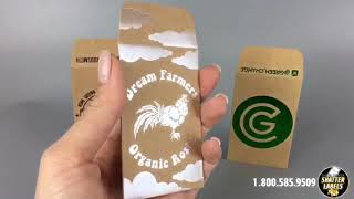 Packaging of cannabis and marijuana Kraft Paper Envelopes by  #1 Marijuana Packaging Company