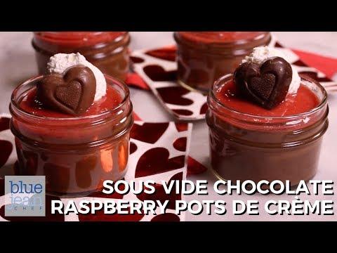 Chocolate Raspberry Pots De Creme