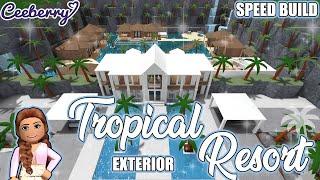 Bloxburg | Tropical Resort Exterior Speed Build