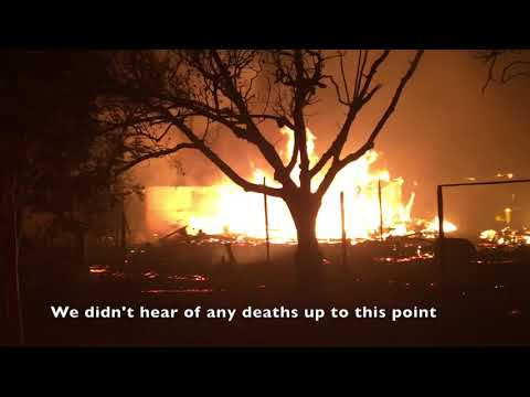 Wine Country Fire – Fire Engine response and firefight, Stopping the Flames (Firefighter view)
