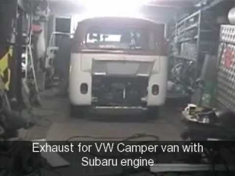 VW Camper Van With Subaru Engine Custom Exhaust