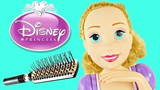 DISNEY PRINCESS Deluxe Rapunzel Colour Changer Beauty Doll Eyeshadow Lipstick Nail Polish