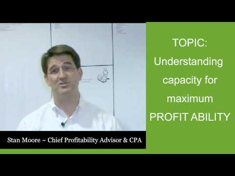 360° Profit Masters  - Profit Tip #1 - Understanding Capacity for Maximum Profit Ability