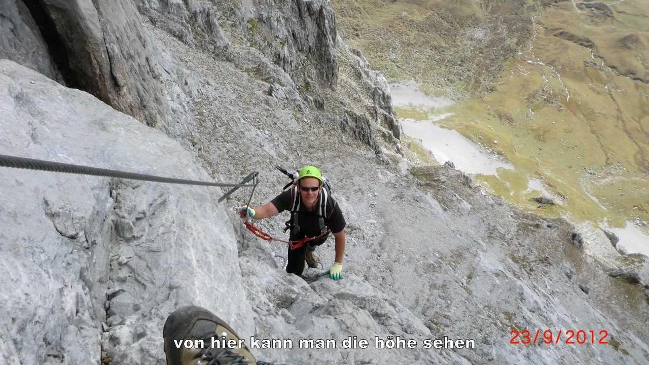 Klettersteig Sulzfluh : Sulzfluh südwand klettersteig d youtube