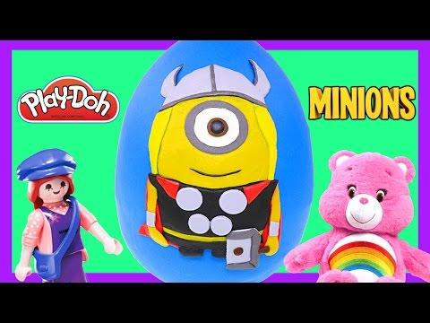 THOR Minion Giant Play Doh Surprise Egg * Play Dough Marvel Avengers Toys Juguetes Sorpresas