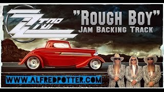 "ZZ TOP - ""Rough Boy"" 80s Jam Backing Track in A Major"