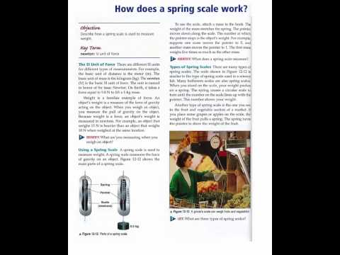 How Does a Spring Scale Work?