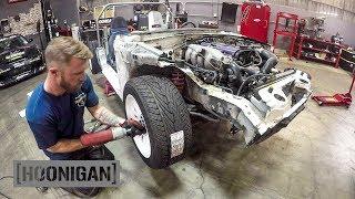 [HOONIGAN] DT 166: $200 Miata Kart Build [Part 3] - Skunk2 Coilovers