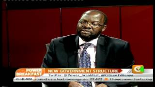 Power Breakfast Interview: New Government Structure