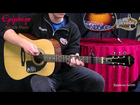 Epiphone AJ100 Acoustic Guitar Demo @ Nevada Music UK