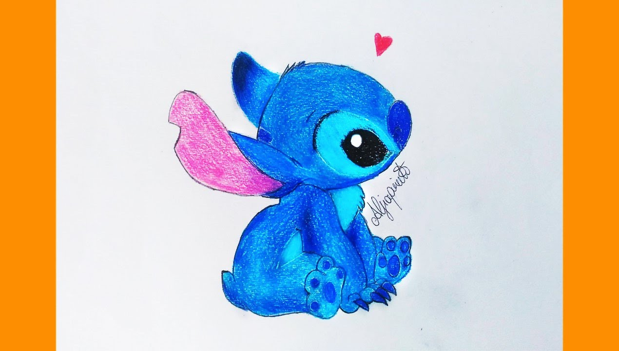 Stitch speed drawing disegno a matita youtube for Disegni facili colorati