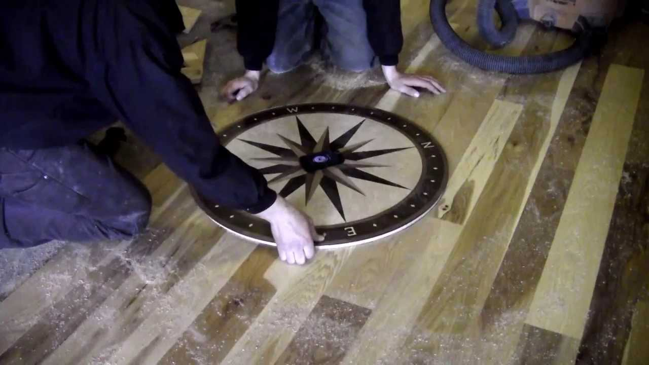 Installing A Wooden Medallion In A Hardwood Floor Youtube