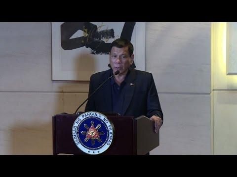 Philippines' Duterte praises China on Beijing visit