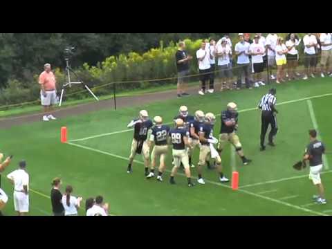 Bethel's Josh Aakre rolls out, gets some help