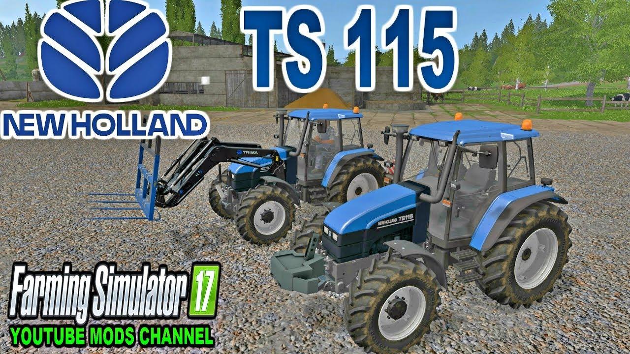 FS | 17 | Mods New Holland TS115 & Trima + 4 1p Front Loader & Robert FB200