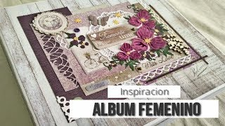 ALBUM FEMENINO 'ROMANTIC TIMES' (CON MAS SCRAP) - INSPIRACION | LLUNA NOVA SCRAP