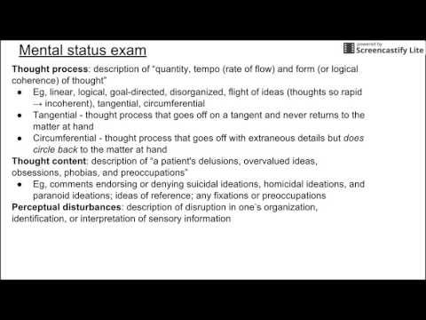 Mental Status Exam Youtube