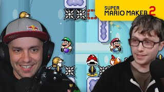 Co-Op Kaizo with @Thabeast721! | Super Mario Maker 2