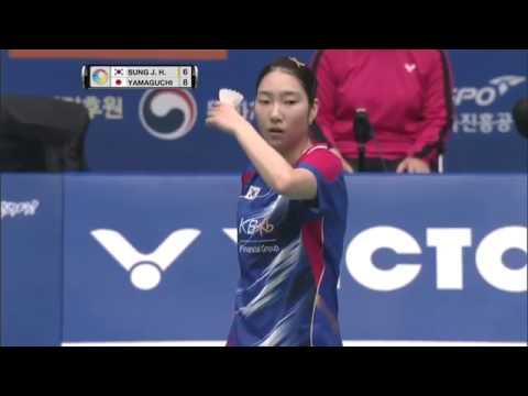 Victor Korea Open 2016 | Badminton F M3-WS | Sung Ji Hyun vs Akane Yamaguchi