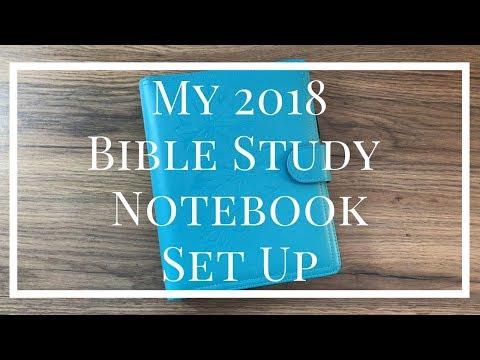 MY 2018 BIBLE STUDY NOTEBOOK SET UP