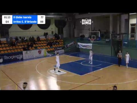 LNP Serie B 17/18 Il Globo Isernia Basket - Irritec Costa D'Orlando Capo D'Orlando (girone D)